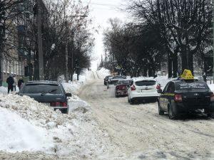 Уборка снега с пробуксовкой